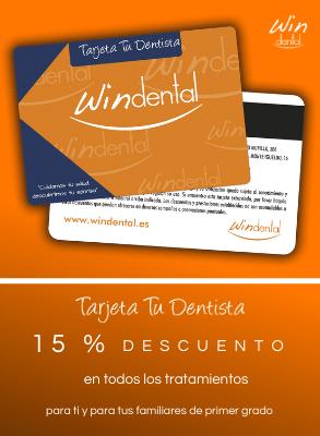 Promociones de clinicas dentales Tarjeta Windental